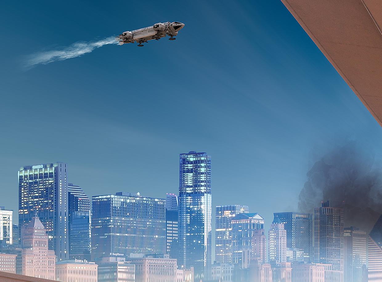Apocalypse Landing Suburb by MephistoDesign