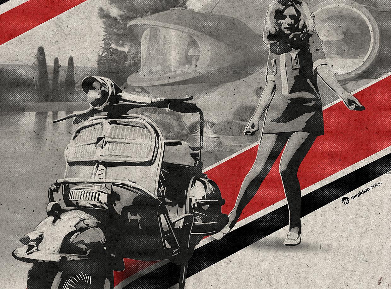 It's a Riviera Mod Thing tirage d'art par Mephisto Design