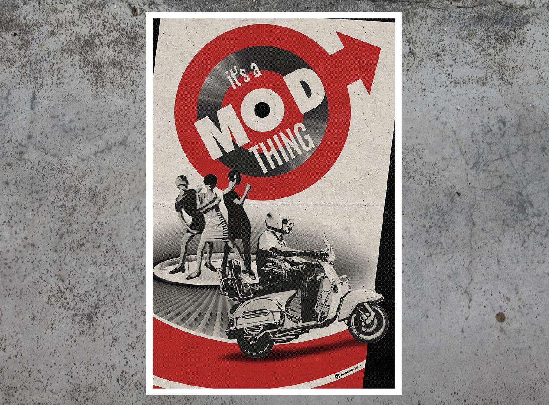 It's My Mod Thing tirage d'art par Mephisto Design