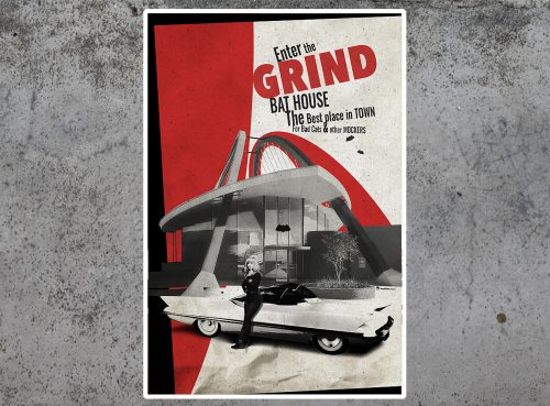 Grind Bat House tirage d'art par Mephisto Design