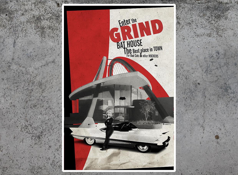 Grind Bat House tirage d'art par Mephisto Design