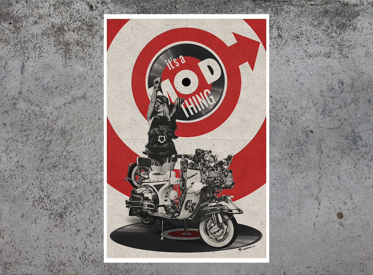It's a Mod Gogo Thing tirage d'art par Mephisto Design